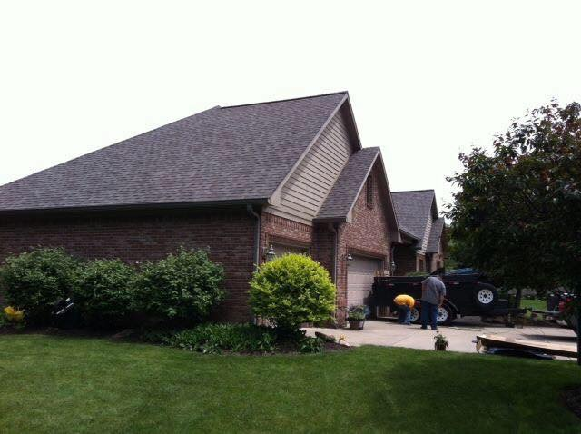 new asphalt roof installation