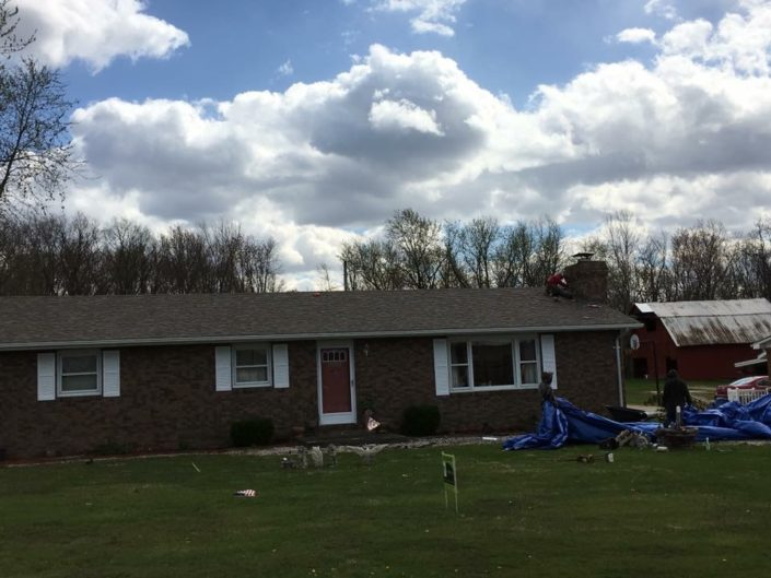 roofing job clean up