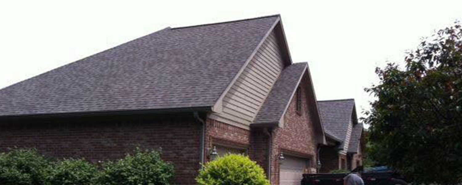 newly installed asphalt roofing